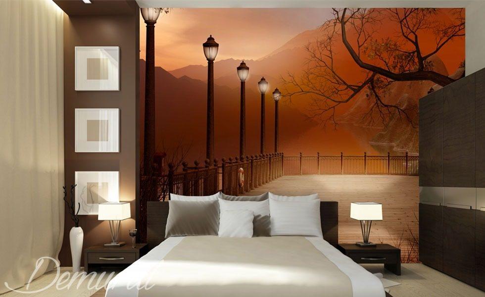 Dormitorio nocturno fotomurales para dormitorio - Fotomurales pared ...