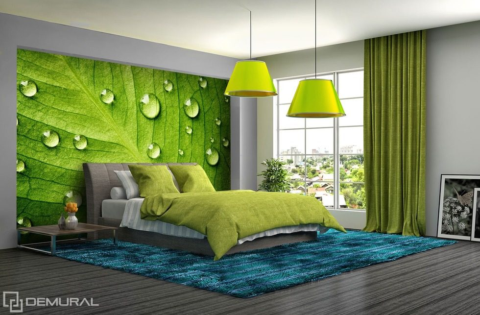 El mundo verde las paredes de hojas fotomurales para - Fotomurales para pared ...
