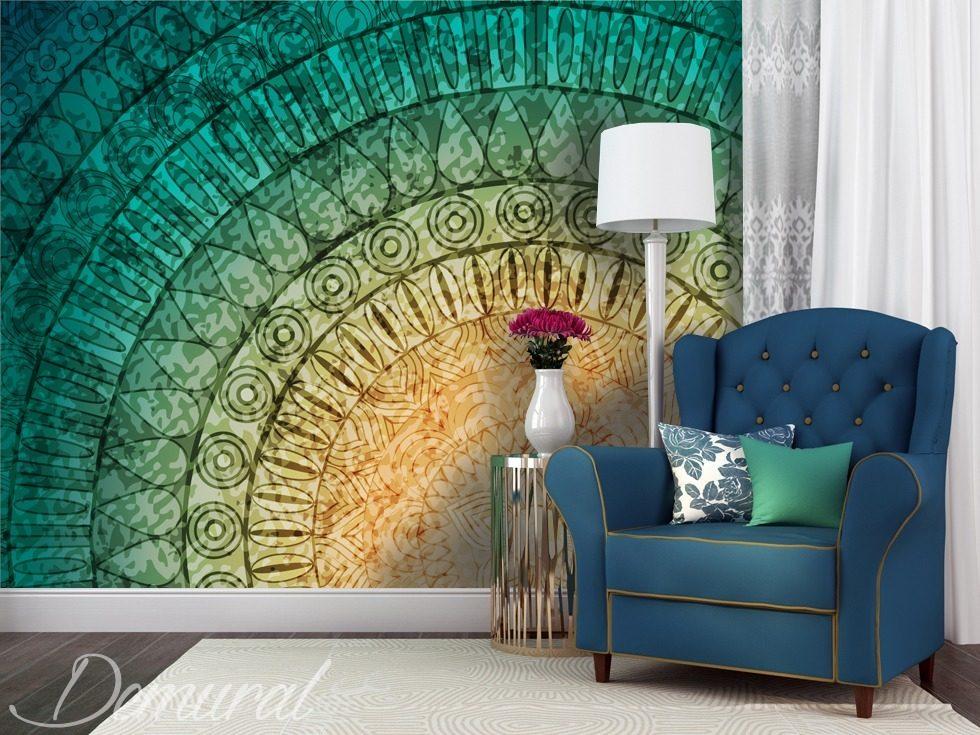 Una m ndala en tu pared fotomurales abstractos - Mandalas para pared ...