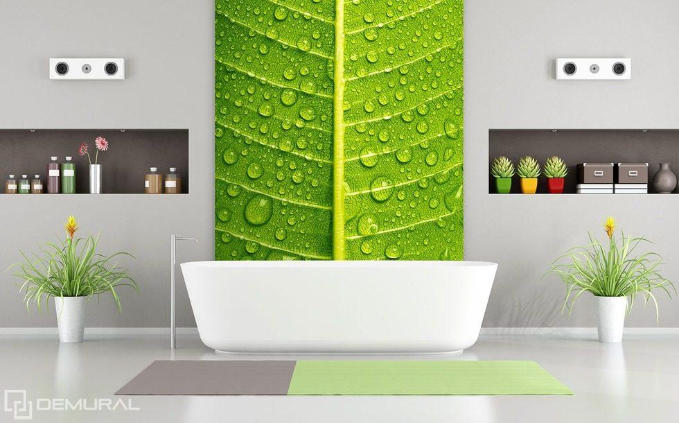 Ntimos acercamientos verdes fotomurales para cuarto de - Fotomurales para banos ...