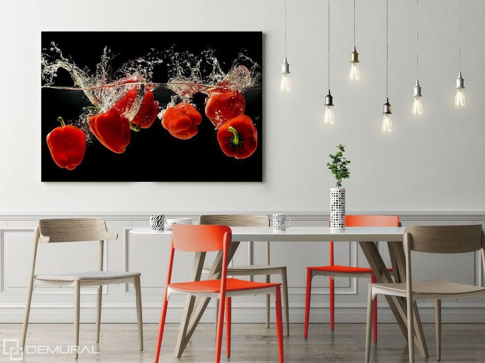 El baile de pimientos de rojo cuadros para el comedor for Cuadros en country para comedor